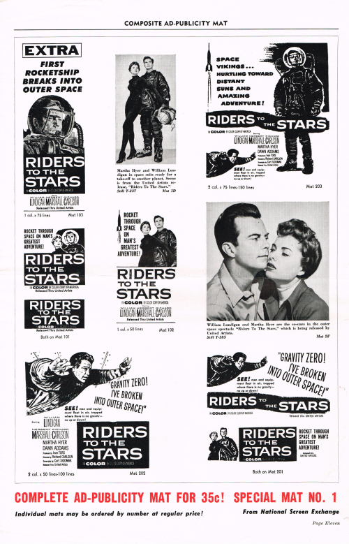 Riders to the Stars Pressbook 01