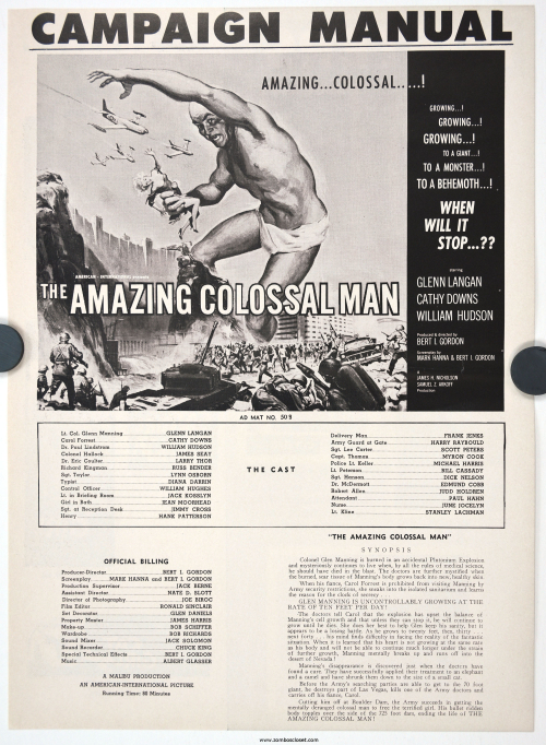 Amazing Colossal Man and Cat Girl Pressbook 000