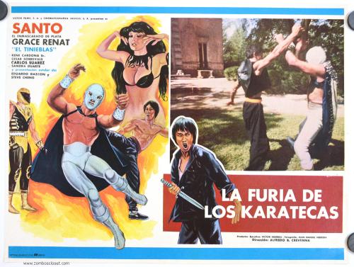 Furia de los karatecas lobby card