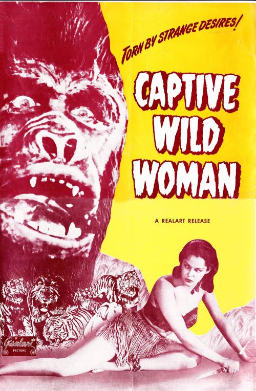 Captive wild woman pressbook 01