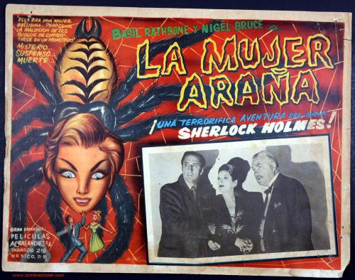 Sherlock holmes mexican lobby card