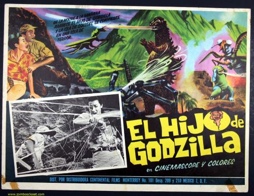 El Hijo Godzilla Mexican lobby card