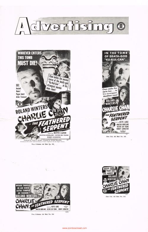 Charlie Chan Serpent pressbook 01