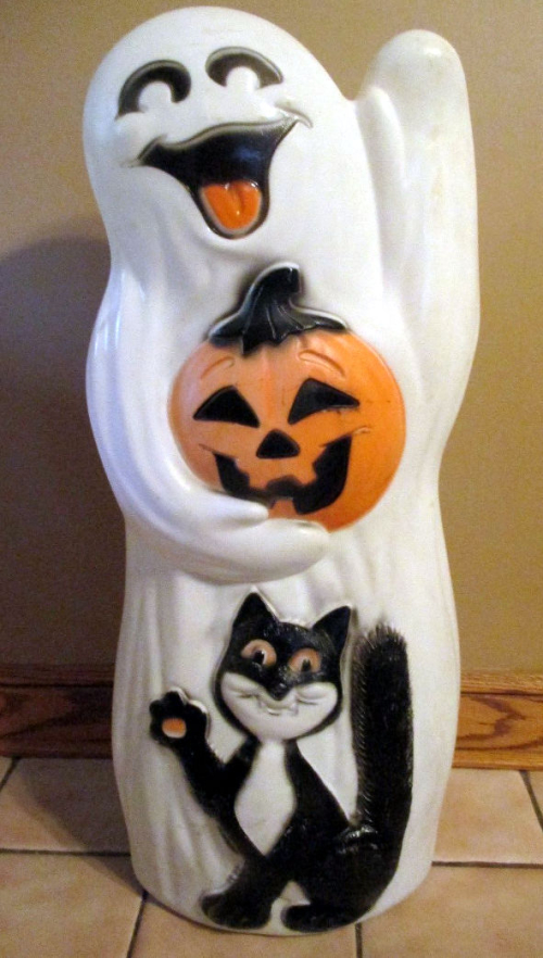 Ghost and cat blow mold