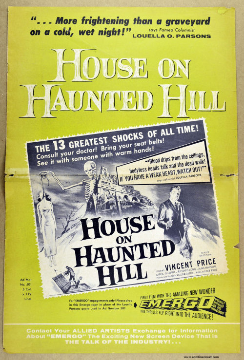 House on Haunted Hill Pressbook 01