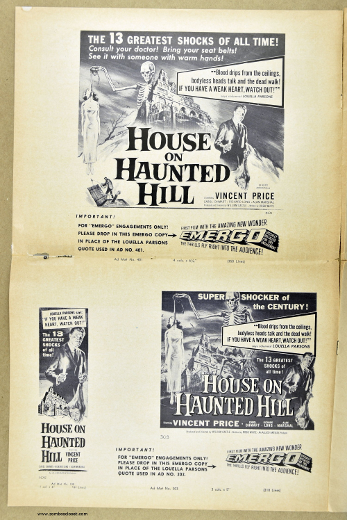 House on Haunted Hill Pressbook 11
