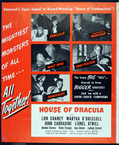 House of Dracula Pressbook 002