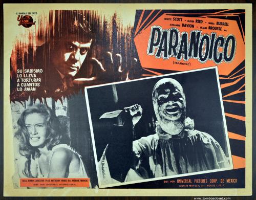 Paranoiac lobby card