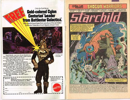 comic book ad battlestar galactica