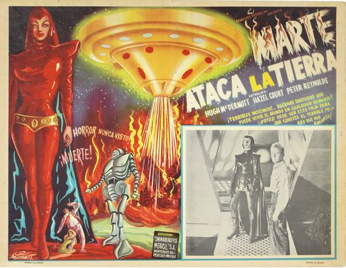 devil girl from mars mexican lobby card