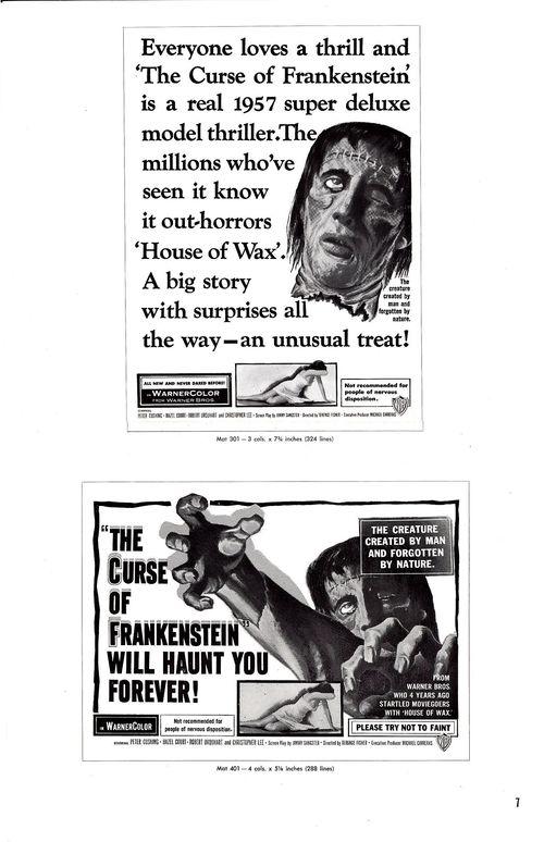 Curse of frankenstein pressbook 7