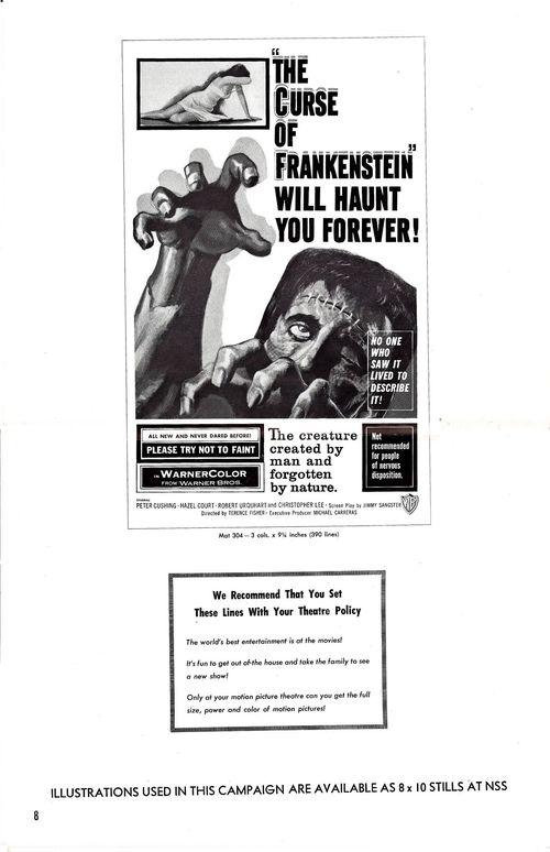 Curse of frankenstein pressbook 8