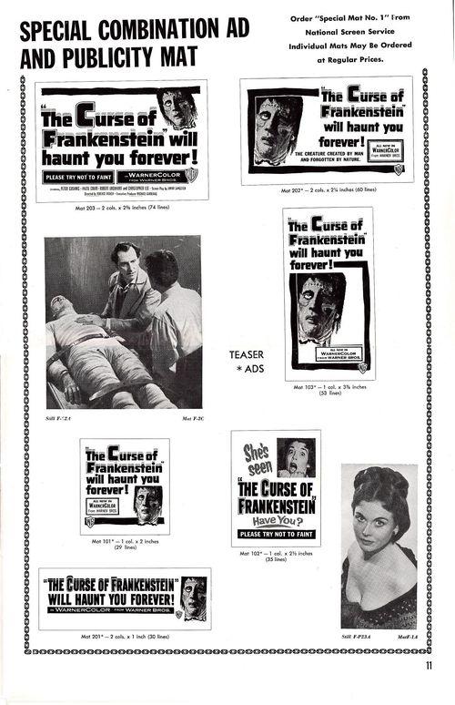 Curse of frankenstein pressbook 11