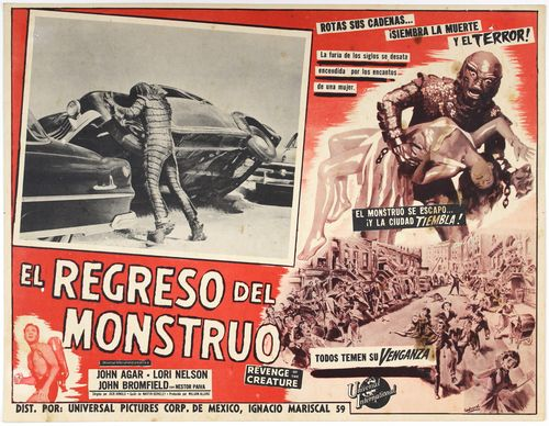 revenge of the creature mexican lobby card
