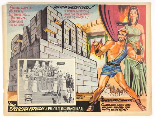 samson mexican lobby card
