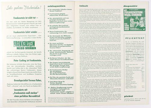 Hammer pressbook frankenstein 2