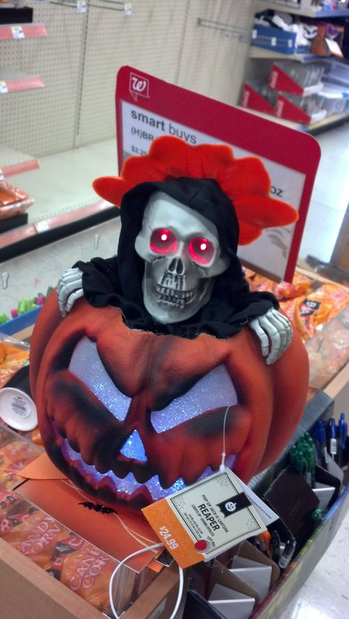 walgreens halloween pumpkin grim reaper animated