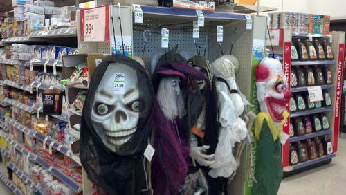 walgreens halloween skull and clown heads