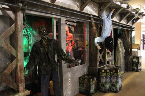 Spirit halloween 2015 zombie subway display