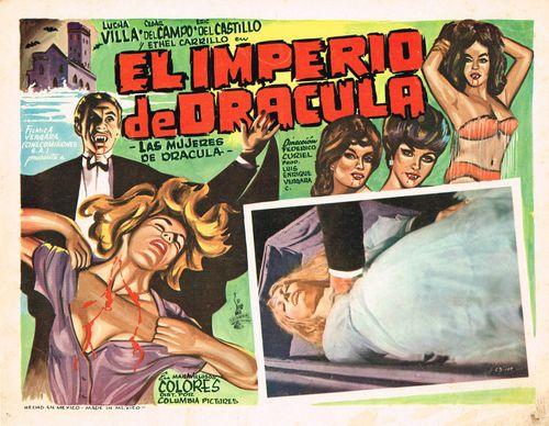 Mexican lobby card the empire of dracula