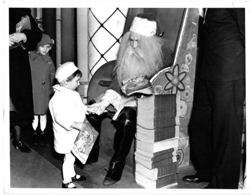 christmas santa press photo 1935