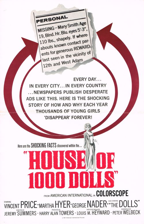 House of 1000 dolls pressbook