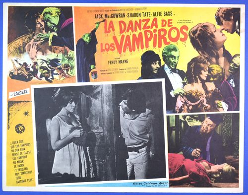 mexican lobby card fearless vampire killers