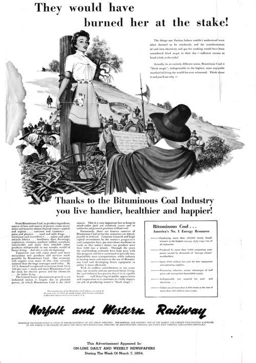 Coal advertisement