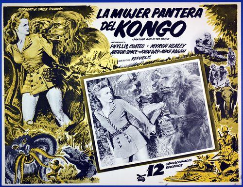 La mujer pantera kongo mexican lobby card
