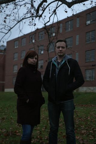Amy and Adam outside of Trans Allegheny