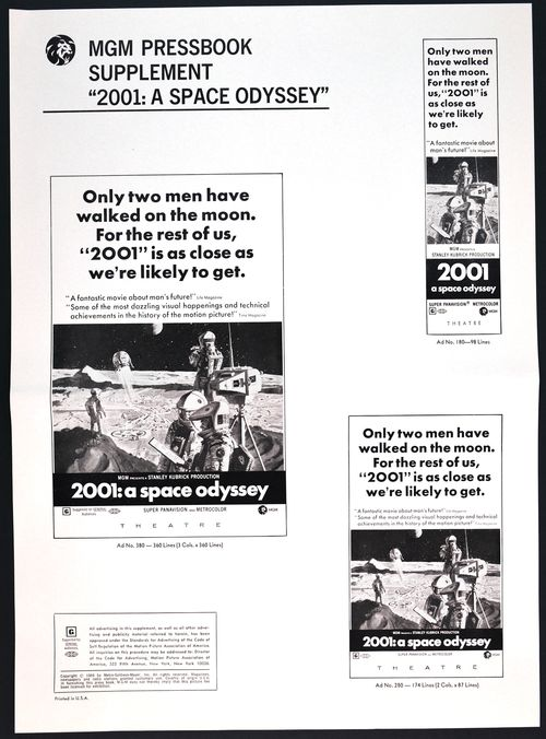 2001 space odyssey pressbook supplement 2