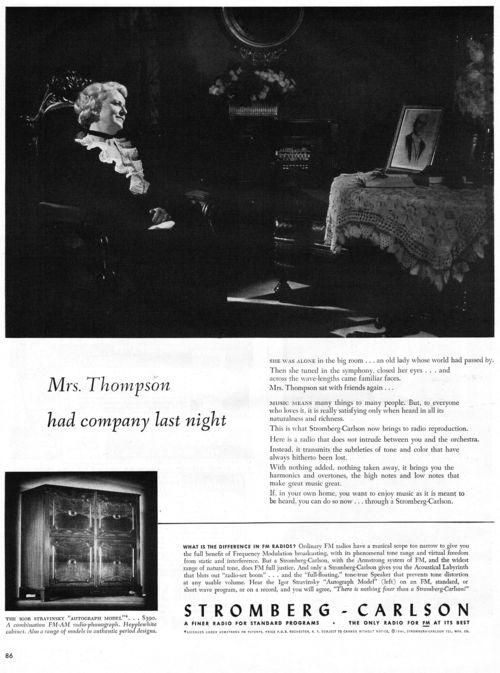 Vintage radio ad