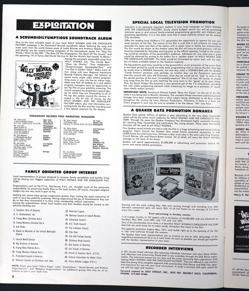 Willy Wonka Pressbook 01