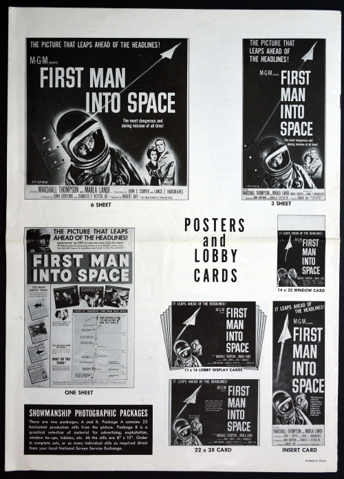 First Man into Space Pressbook 01