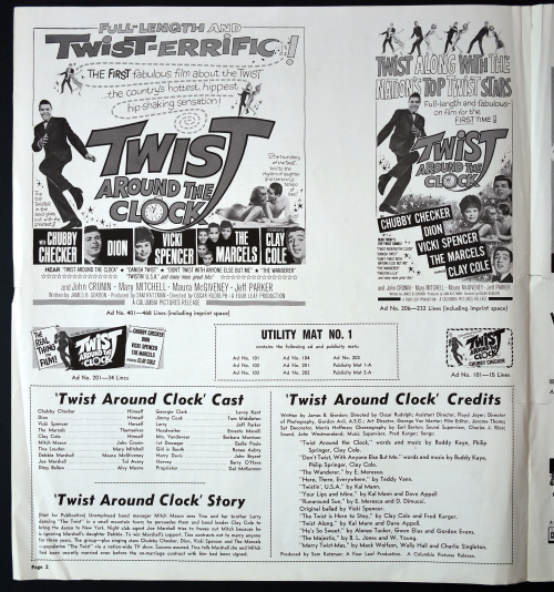 Twist Around the Clock Pressbook 01