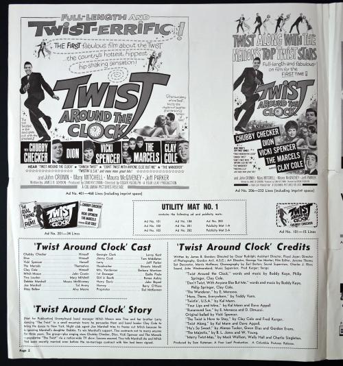 Twist Around the Clock Pressbook 01