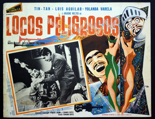 Locos peligrosos mexican lobby card
