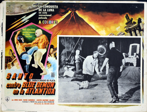 santo contral blue demon atlantida lobby card
