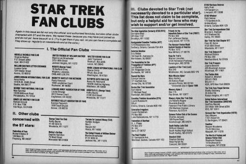Star Trek Fan Clubs Issue 3