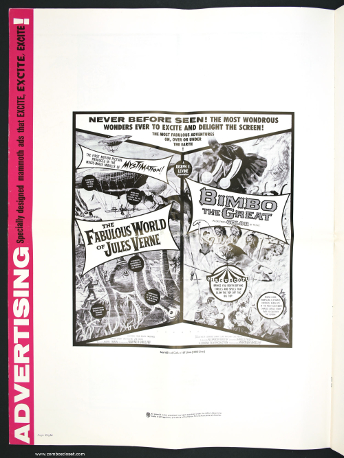 Fabulous World of Jules Verne Double Bill Pressbook 001