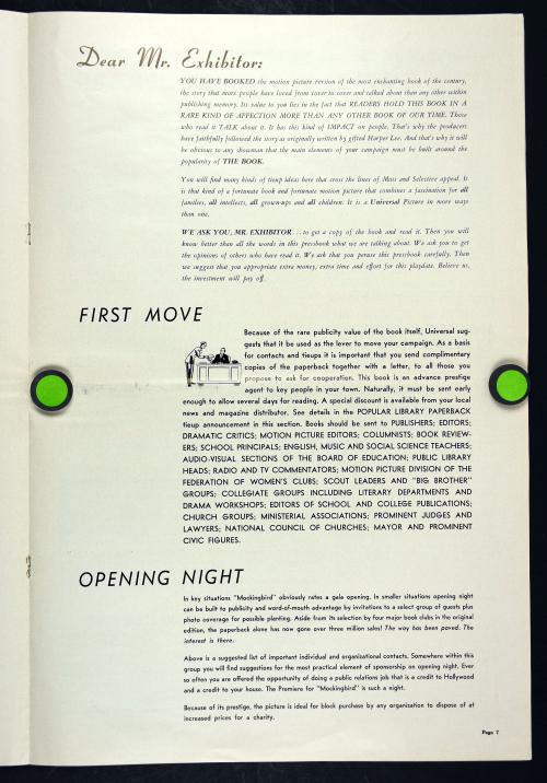 To Kill a Mockingbird Pressbook  001