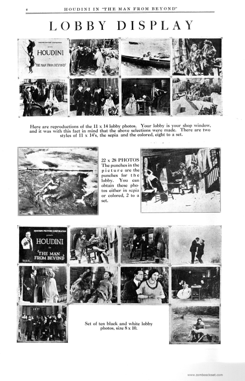Houdini in The Man From Beyond Pressbook 001