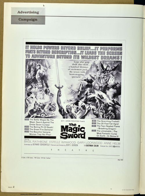 The Magic Sword Pressbook 001