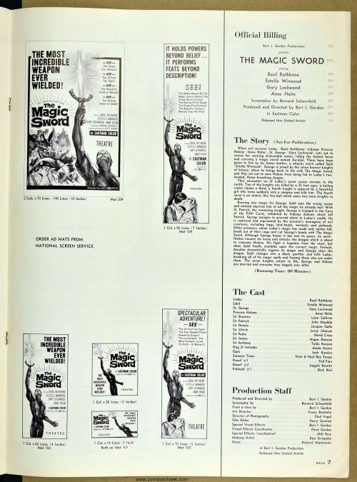 The Magic Sword Pressbook 001