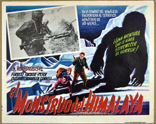 abominable snowman mexican lobby card
