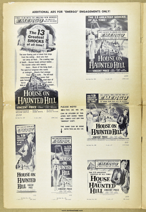 House on Haunted Hill Pressbook 05