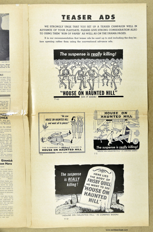 House on Haunted Hill Pressbook 08a