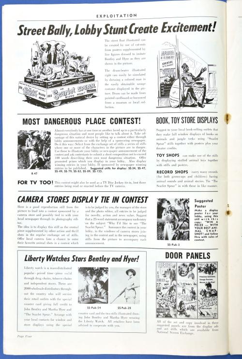 The Scarlet Spear Pressbook 01