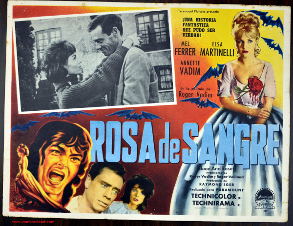 blood and roses  1960  mexican lobby card  from zombos