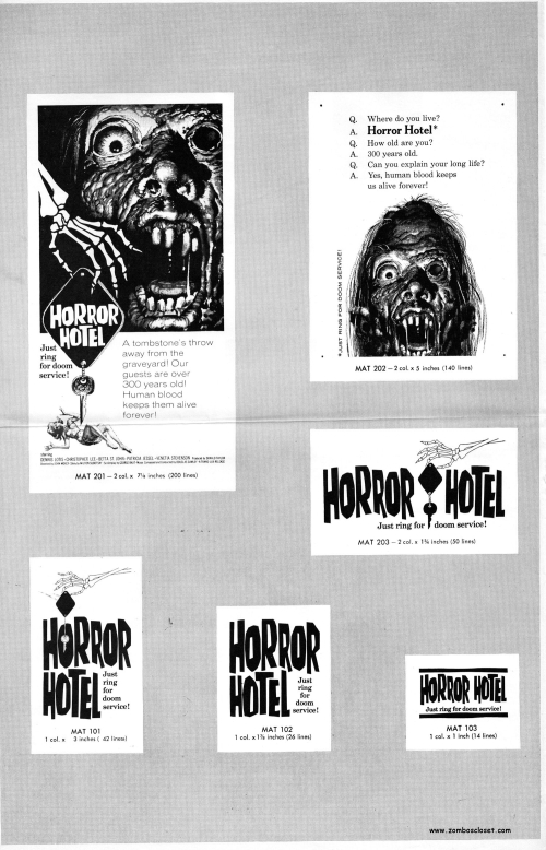 Horror Hotel Pressbook